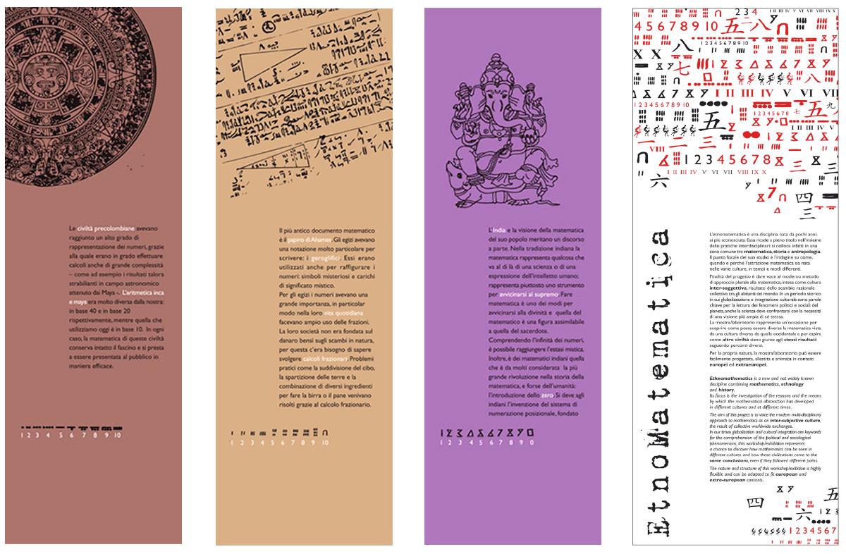 Festival Scienza pannelli etnomatematica 2007